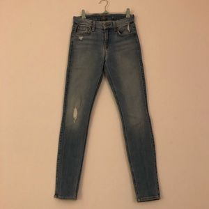 7 For All Mankind Skinny Mid Rise Light Jeans